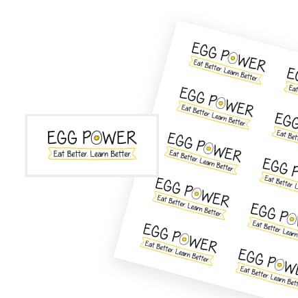 Egg Power Stickers Rectangular 1
