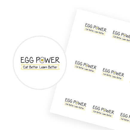Egg Power Stickers Round