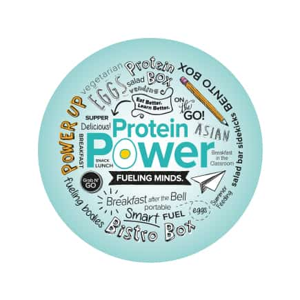 Protein Power Sticker Round